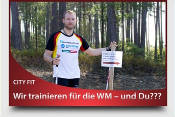 WM Nordic Walking Strecke - City Fit Roding